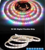 Luz RGB ao ar livre da corda do diodo emissor de luz de Digitas IP20 IP64 IP68, corda da luz de Natal de 5050 diodos emissores de luz com Ce RoHS