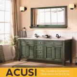 Vaidade americana do banheiro da madeira contínua do estilo da alta qualidade por atacado (ACS1-W50)