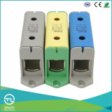 Jut10-50 Montaje en riel DIN Distribución Bloque de terminales Conector
