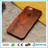 iPhone 8のためのシタンの自然な切り分けられた木製の堅い箱