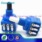 Potenziometro rotativo dell'asta cilindrica doppia dell'interruttore di Wh116ak 6mm