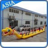 De aangepaste Opblaasbare Boot van de Draak van de Spelen van het Water, de Vliegende Boot Towables van de Banaan voor 10 Mensen