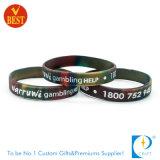 Wristband feito sob encomenda por atacado do VIP do silicone da coloração do OEM