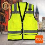 Veste do trabalho da reflexão da proteção do OEM, veste do Vis dos homens olá! com bolsos