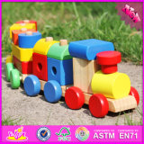 2016 Moda por atacado Kids Wooden Block Toy Car W04A280