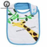 かわいい動物の印刷および刺繍が付いている卸し売り赤ん坊の胸当て