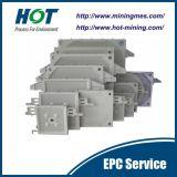 Placa automática da filtragem de membrana da imprensa de filtro hidráulico