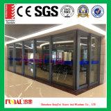 Раздвижная дверь термально пролома европейского стандарта алюминиевая стеклянная
