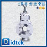 Robinet à tournant sphérique solide de tourillon de bille d'entrée latérale de Didtek avec le dispositif antistatique