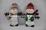 プラシ天のクリスマスのおもちゃのスノーマン