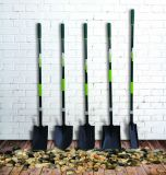 園芸工具はガラス繊維のハンドルが付いている鋼鉄鋭い踏鋤円形のシャベルを造った