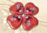 Rectángulo de regalo del metal de la dimensión de una variable del corazón para la galleta de la crema del chocolate
