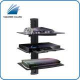 Mensola di vetro nera per il lettore DVD, contenitore di cavo