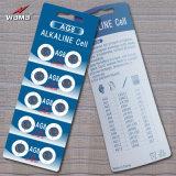 Батарея AG8 клетки кнопки высокого качества алкалическая в фабрике Wama