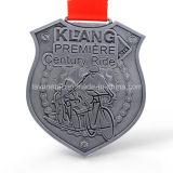 주문 로고를 가진 싼 고대 은 금속 마라톤 메달