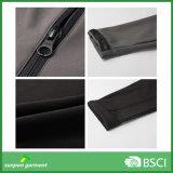 Rivestimento nero di Softshell di colore di alta qualità con il prezzo di fabbrica