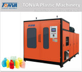 máquina plástica automática del moldeo por insuflación de aire comprimido de la protuberancia 3L con la estación doble