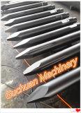 Burin hydraulique de rupteur avec la cale épointée de formes de point plat différent de Mohel