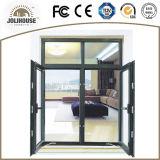 Het Openslaand raam van het Aluminium van lage Kosten voor Verkoop