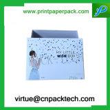 A medida rígida Impresión Kraft tarjeta de la caja de joyería caja de lujo