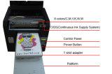Máquina de impressão Flatbed personalizada da camisa de Digitas T do projeto