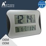 Relógio de parede ou mesa de controle digital com controle remoto de LCD