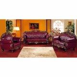 Sofà di cuoio con il blocco per grafici di legno del sofà per mobilia domestica (929S)