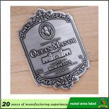 Étiquette de vin en métal gaufré / étiquette en bouteille en métal / étiquettes en aluminium