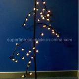 Weihnachtsbaum-dekorative flexible transparente Zeile LED-Zeichenkette-Licht mit Stern-Dekoration