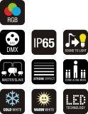 IP65 van de LEIDENE van de classificatie het Licht Wasmachine van de Muur voor DJ met FCC
