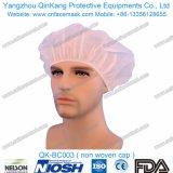 使い捨て可能な非編まれたBouffant帽子または看護婦の帽子か円形の帽子Qk-Bc001