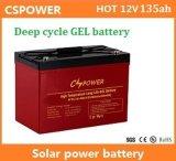 bateria profunda do gel da longa vida do ciclo de 12V 135ah para a manufatura solar de China do armazenamento
