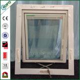 プラスチックPVC浴室のための二重ガラス手動クランクの日除けWindows