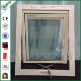 Toldo de vidro dobro Windows da manivela do PVC do plástico para o banheiro