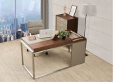 Table d'ordinateur en bois L-Shape Corner (We04)