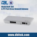 Gateway transversal de rádio RoIP-302 de VoIP da rede