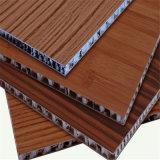 Panel de madera del grano de aluminio Hoenycomb compuesto / decoración de la pared interior (HR140)