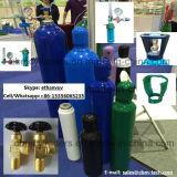 Flussometro medico dell'ossigeno con le bottiglie dell'umidificatore per i cilindri O2