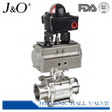 Válvula de esfera pneumática 3PCS 1000wog