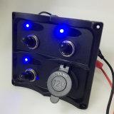 Gruppe-schwarzes Kippschalter-Panel des Auto-3 mit USB-Kontaktbuchse