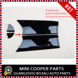 Color Chequered protegido ULTRAVIOLETA plástico del ABS a estrenar pequeño con las cubiertas internas de la maneta de la puerta de la alta calidad para Mini Cooper F56 (conjunto de 2 PCS/