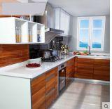 木のメラミン台所食器棚(カスタマイズされる)