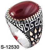 마노를 가진 형식 보석 925 은 반지