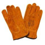 Piel de la vaca Trabajo de protección de seguridad guantes de la mano del conductor Trabajando