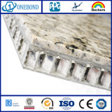 Panneau en aluminium de marbre de pierre de nid d'abeilles de qualité