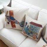 Cubiertas de lino de la almohadilla de tiro del algodón barato del fabricante