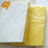 Manta blanca del azulejo del techo de las lanas de cristal de fibra de la lámina de PVC