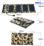 sac pliable de chargeur de téléphone mobile d'énergie solaire de 5V 7W/sac portatif se pliant de chargeur de panneau solaire