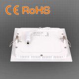 luz de painel pequena ultra magro do diodo emissor de luz do quadrado 6/9/12/15/18/20/24W