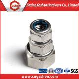 Écrou de blocage de nylon d'hexa de l'acier inoxydable 304 DIN 985